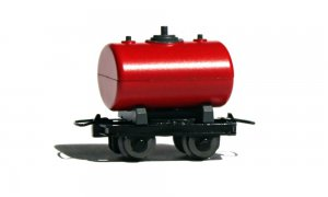 Set de 2 wagonnets citernes rouges